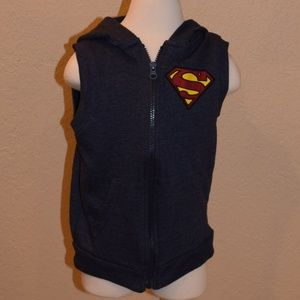 Kids Superman Sleeveless Hoodie